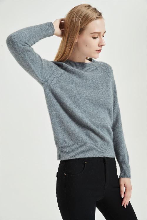 nuevo suéter de mujer de cachemir puro con tecnología sin costuras