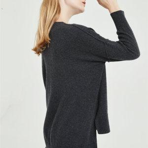 chaqueta de punto de cachemir puro de alta calidad con tecnología sin costuras