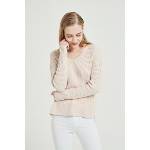 wholesale high quality pure cashmere women sweater with seamless technology in high quality cashmere yarns