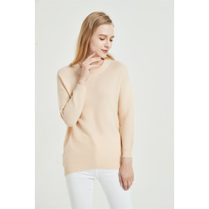 seamlee cashmere supplier new design pure cashmere women sweater with high quality