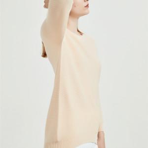 nuevo diseño de suéter de mujer de cachemira pura con colores naturales