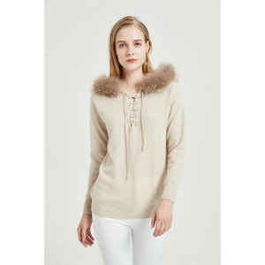 wholesale high quality fashion design pure cashmere women sweater with low price