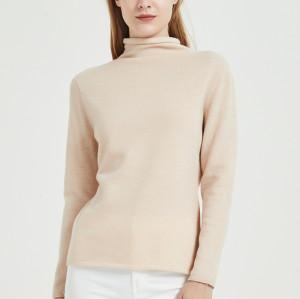 chandail de femmes de cachemire de conception de mode pure avec la technologie sans couture