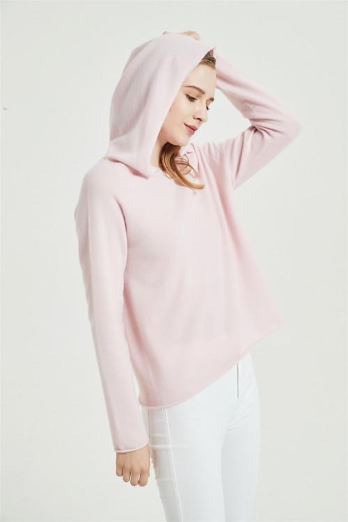 chandail de cachemire pur de conception de mode de dames avec la technologie sans couture