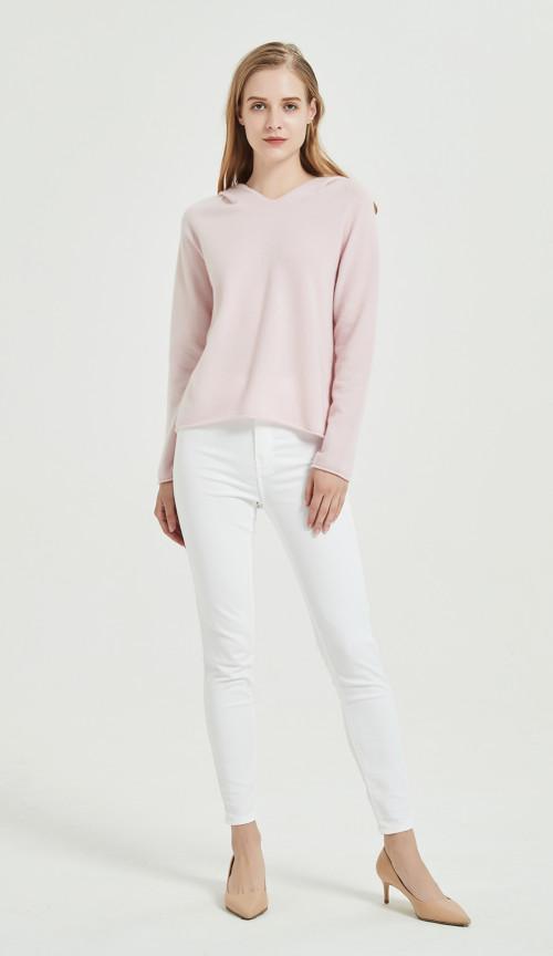 diseño de moda suéter de pura cachemira para damas con tecnología sin costuras