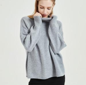 jersey de pura cachemira para mujer con tecnología sin costuras