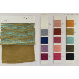 Ewsca spring sustainable 100% linen yarn with stock colors