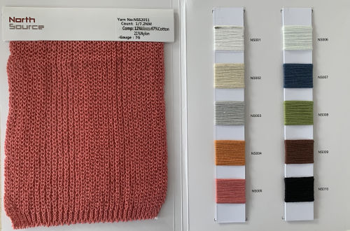 1 / 7.2nm 12% lino 67% algodón 21% nylon hilo de fantasía