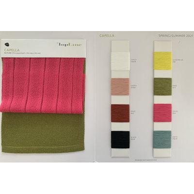 última moda sostenible 54% acetato (naia) 32% algodón 14% lino hilo de fantasía