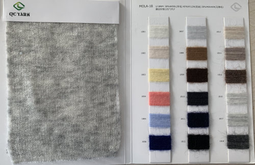 nueva tendencia de moda1 / 18nm 30% lana 30% mohair 40% mezcla de nylon hilo elegante