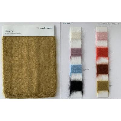nouveau fil fantaisie de haute qualité de 65% mohair 35% soie avec des couleurs de stock