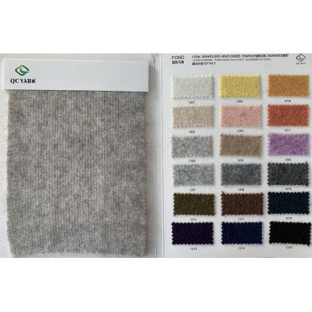 feines extra weiches 1 / 12nm 35% Wolle 49% Nylon 13% Mohair 3% Elasthan-Phantasiegarn