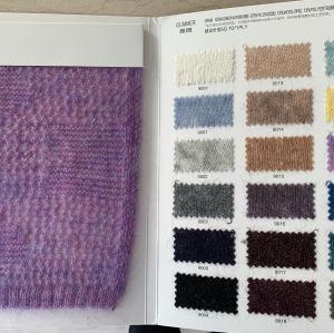 haute qualité dernière mode 1 / 9nm 52% kid mohair 22% nylon 13% laine 13% polyester mélange fantaisie fil