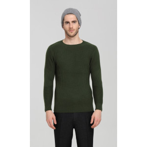 Wholesale high quality men long sleeve crew neck knitted cashmere sweater China manufacturer