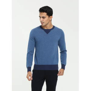 Wholesale custome design men's crew neck constrast colour cashmere sweater with cheap price China