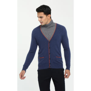 Wholesale new design high quality mens 100%cashmere cardigan for fall winter China manufacturer