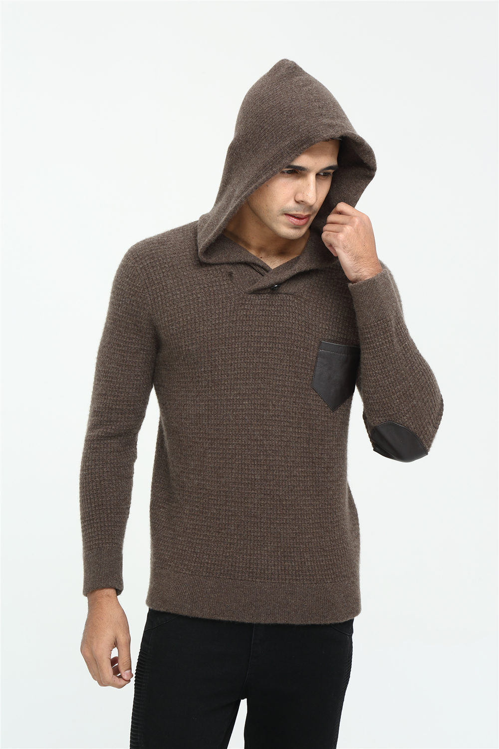 Mens Cashmere Sweater Hoodie