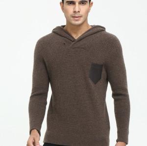 sudadera con capucha de cachemir con cuello redondo y manga larga para hombre para otoño invierno