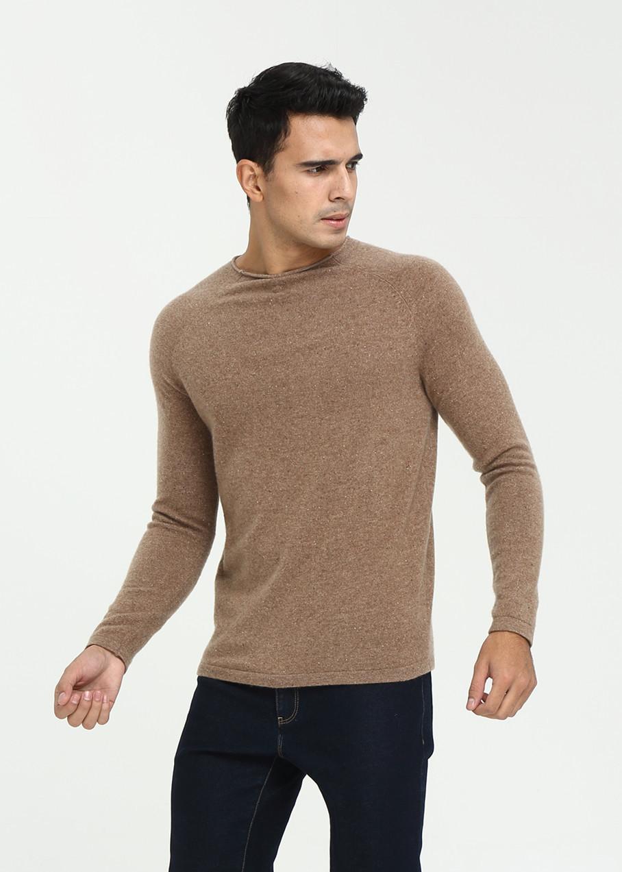 Pull pur cachemire pour homme automne-hiver