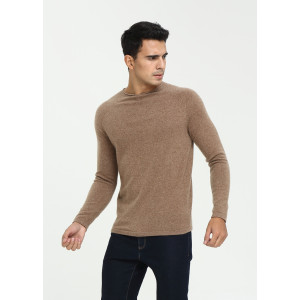 Customized new design men long sleeve crew neck cashmere sweater for fall winter with cheap price