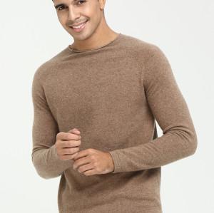 suéter de cachemira con cuello redondo y manga larga para hombre para otoño invierno