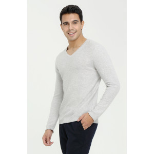 New Custom design high quality men long sleeve v-neck pure cashmere sweater cheap pirce China vendor