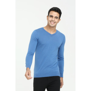 New design high quality men long sleeve v-neck cashmere sweater for fall winter China supplier