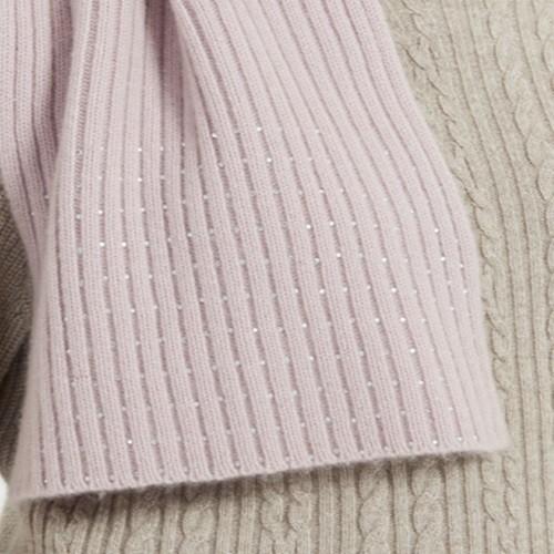 bonnet et écharpe côtelé en laine et cachemire pour femmes