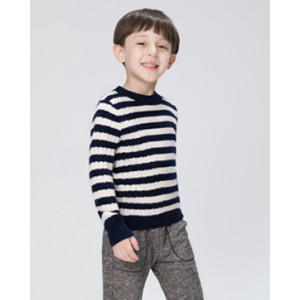 wholesale wool cashmere baby sweater with strip in two colors OEM China supplier