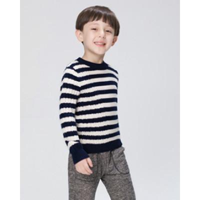 jersey de lana y cachemir para bebé con tira en dos colores