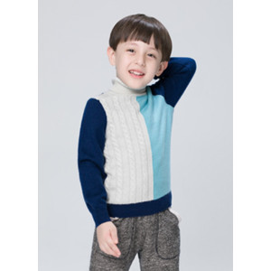wholesale boy cashmere colors pattern sweater with high neck china supplier