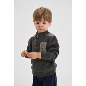 wholesale boy cashmere cardigan sweater in multi colors with pockets
