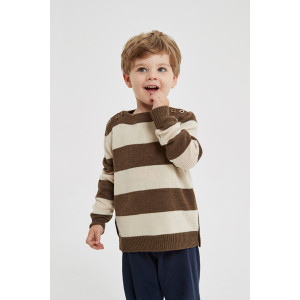 Custom design wholesale boy's fashion stripped round neck pure cashmere jumper from Chinese factory