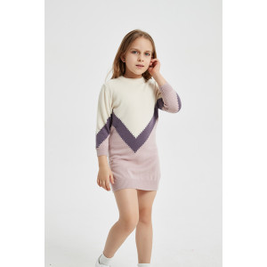 Custom design high quality round neck girl long cashmere sweater in multi colors by Chinese supplier