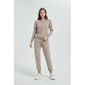 New arrival OEM design women high quality baby cashmere basic style sports wear coat and pants set