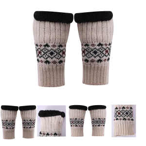 Wholesae Latest Fashion High Quality Jacquard cashmere mitten For Fall Winter China supplier