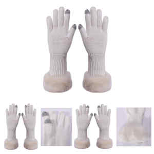Wholesae Latest Fashion pure Cashmere glove with tech touch fingertips For Fall Winter China vendor