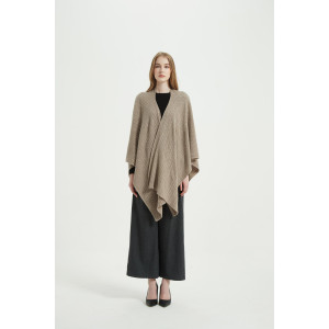 Wholesale Women's Solid Color Pure Cashmere Poncho From Chinede Vendor