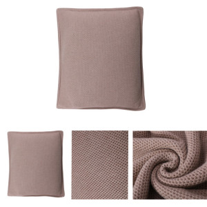 Wholesale nature Color Pure Cashmere knitted pillow in small MOQ and factory price