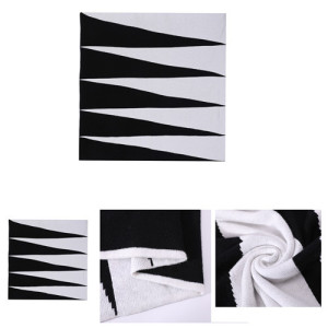 Wholesale black and white Pure Cashmere intarsia knitted pillow in small MOQ and factory price
