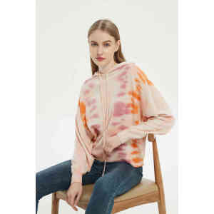 2021 the latest design tie-dye craft high quality cashmere jumper small MOQ wholesale