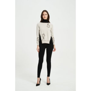 The latest design of 2021 ladies rope embroidery Cashmere jumper wholesaler in China