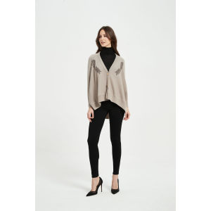 Small MOQ Custom Design Of The Latest High Quality Luxury Rope Embroidery Cashmere Cardigan