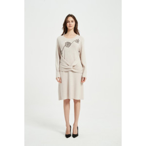 Wholesale New Arrival Women Cashmere Rope Embroidery Knitwear From China Vendor