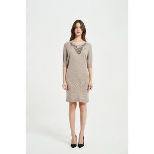 Wholesale New Cashmere Women Rope Embroidery V-neck Knitwear Manufacturer