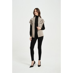 OEM New Arrival Ladies Pure Cashmere Rope Embroidery Cardigan From Chinese Factory For Fall Winter