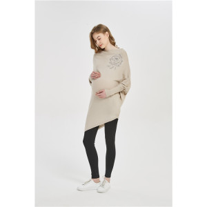 Wholesale OEM OBM ODM Motherhood fashion cashmere Knitwear with stone flower in small MOQ