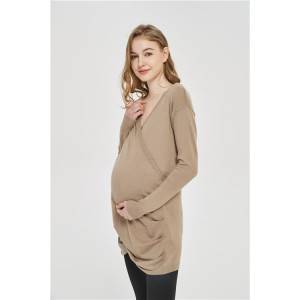 OEM ODM OBM Motherhood fashion cashmere Knitwear with pleats in factory price