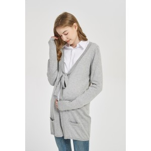 Wholesale ODM Maternity High Quality Pregnancy Cashmere Knitwear Cardigan With Bow From Chinese Factory
