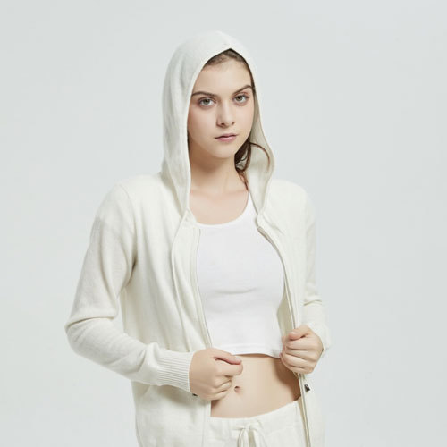 Custom design high quality women baby cashmere casual style sports wear coat with hoodie